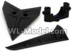 MJX-F49-parts-12 Horizontal wing and fixtures & Verticall wing